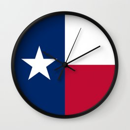 Texas State Flag, Authentic Version Wall Clock