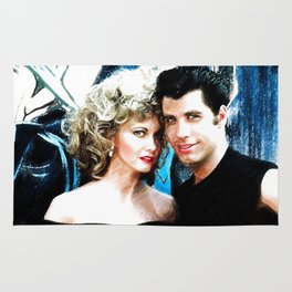 Sandy and Danny from Grease - Painting Style Rug
