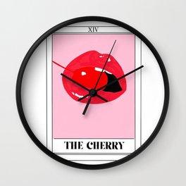 the cherry tarot card Wall Clock