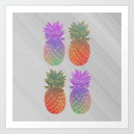 4 Pineapples Art Print