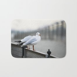 Sitting on The Fence Bath Mat