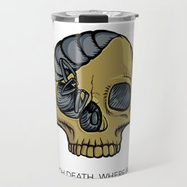#1 Oh Death, Where Is Thy Sting Travel Mug
