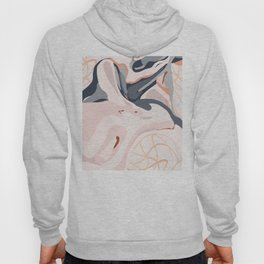 Elegant Zen Marbled Effect Design Hoody