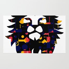 Abstract African Lion Rug