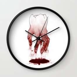 Tooth Fingers Wall Clock