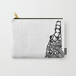 Typographic New Hampshire Carry-All Pouch