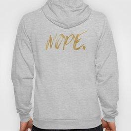 NOPE Copper Gold on Black Hoody
