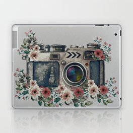 Camera with Summer Flowers Laptop & iPad Skin