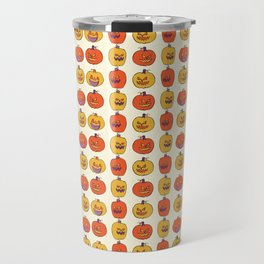 Carved Halloween Pumpkin Pattern Travel Mug