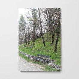 Park Bench near Trsat Castle Metal Print