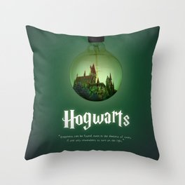 The school of Witchcraft and Wizardry Throw Pillow