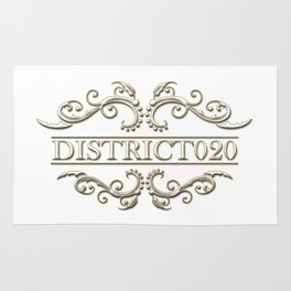 District020 logo white Rug