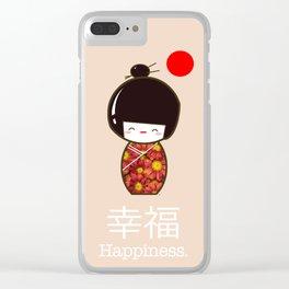 Geisha Girl Happiness Kawaii Clear iPhone Case