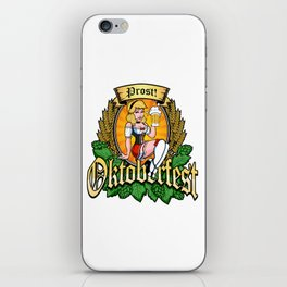 Oktoberfest German Prost Sexy Pin Up Girl Beer Label iPhone Skin