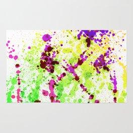 Lime Time - Splatter Style Rug