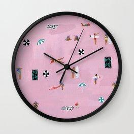 Lay down Wall Clock