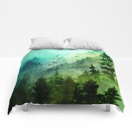 Mountain Morning Comforters
