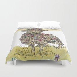 Flower Sheep Duvet Cover