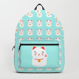 Lucky happy Japanese cat Backpack