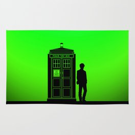 Tardis With The Eleventh Doctor Rug