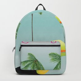 Cuba Toucan travel poster Backpack