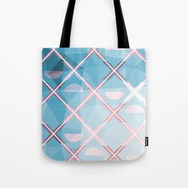 Abstract Triangulated XOX Design Tote Bag