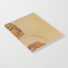 SELF PORTRAIT WITH HANDS ON CHEST - EGON SCHIELE Notebook