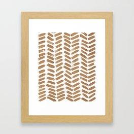 Gold Chevron Framed Art Print