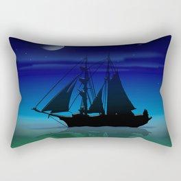 Sailing On A Sea of Green. Rectangular Pillow