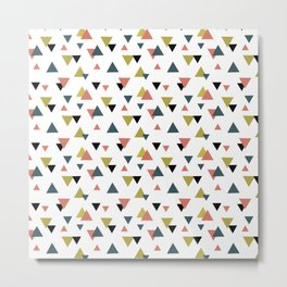 Triangle colorful pattern Metal Print