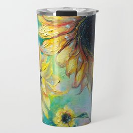 Supermassive Sunflowers Travel Mug