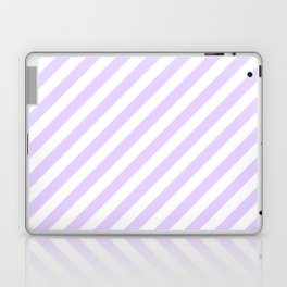 Chalky Pale Lilac Pastel and White Candy Cane Stripes Laptop & iPad Skin