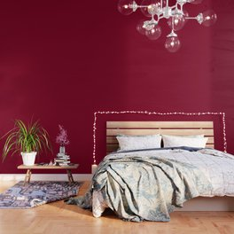 Solid Color Series - Burgundy Red Wallpaper