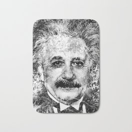 ALBERT EINSTEIN (BLACK & WHITE VERSION) Bath Mat