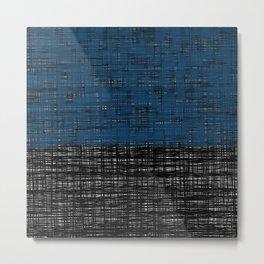 platno (blue) Metal Print