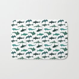 Green Sharks Bath Mat