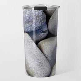 Sea Stones - Gray Rocks, Texture, Pattern Travel Mug