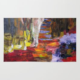 Mountain river bright image Rug