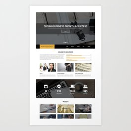 225+ Best Responsive Premium Drupal 7 Themes Art Print