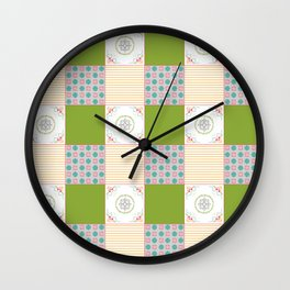 Patchwork Counrty Fair Wall Clock