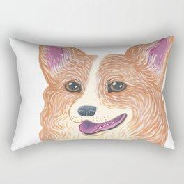 Happy Corgi Rectangular Pillow