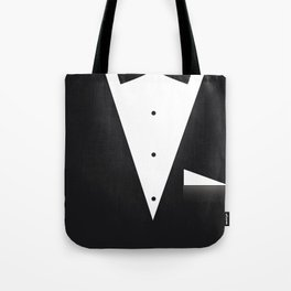 Bow Tie Suit Tote Bag
