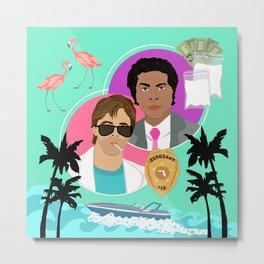 Miami Vice: Crockett and Tubbs Metal Print