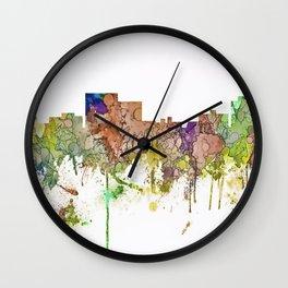Chatanooga, Tennessee Skyline SG - Faded Glory Wall Clock