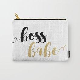 Boss Babe | Gold Glitter Carry-All Pouch