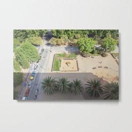 Barcelona Aerial Metal Print