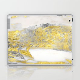 Silver and Gold Marble Design Laptop & iPad Skin