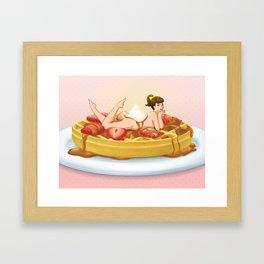 Waffle Girl Framed Art Print