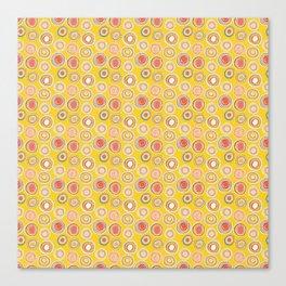 Bright Circles Robayre Canvas Print
