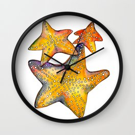 Sea Stars Wall Clock